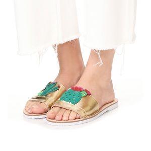 Kate spade iguana succulent slides sandals